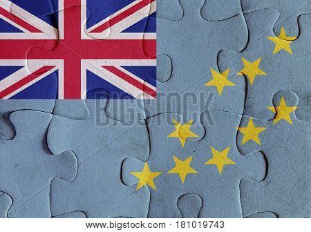 Tuvalu Flag Puzzle