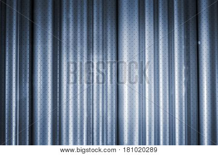 close up cyan curtain fabric and reflex light for background