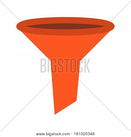 Laboratory, science, funnel icon vector image. Can also be used for chemistry. Suitable for mobile apps, web apps and print media.