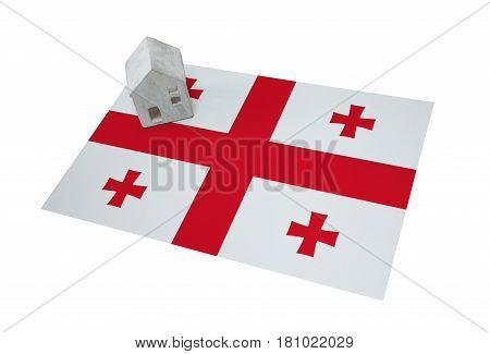 Small House On A Flag - Georgia