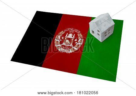 Small House On A Flag - Afghanistan