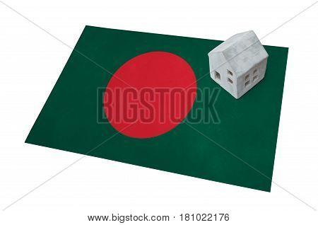 Small House On A Flag - Bangladesh