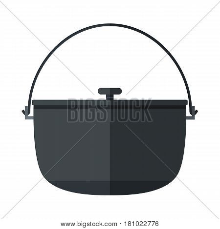 Camping pot icon. Flat illustration of pot vector icon for web design