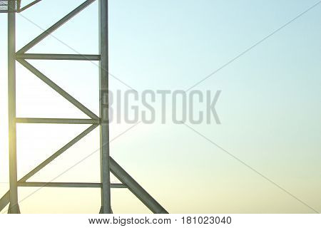 Steel frame structure is old for background