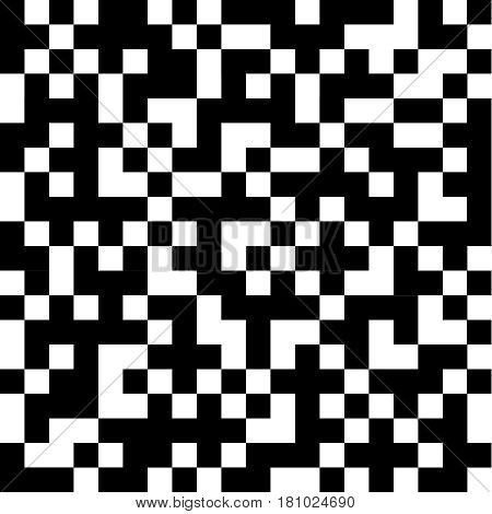 Abstract black and white squares. Flat design vector illustration vector.