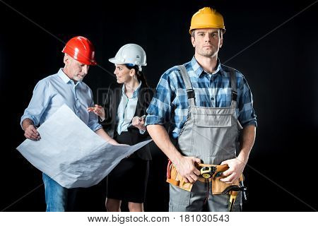Confident Worker And Architects