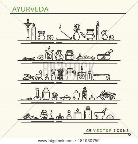 Ayurvedic Supplies Icons