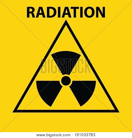 Radiation sign. Flat design vector illustration vector.