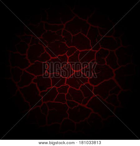 Abstract red cracked background with grunge blots