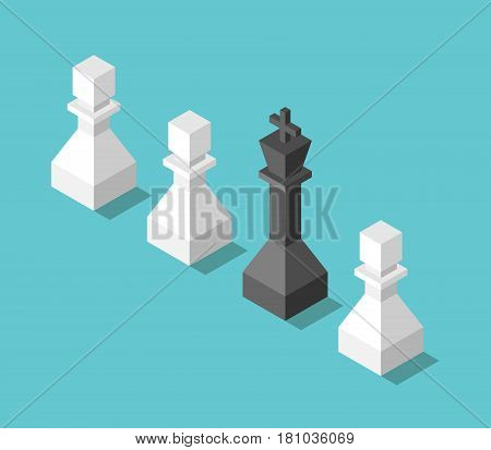 King, Pawns, Leadership Concept