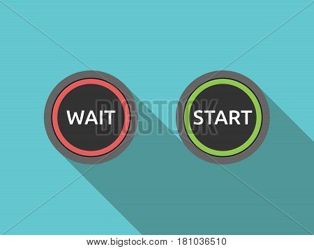 Wait And Start Buttons