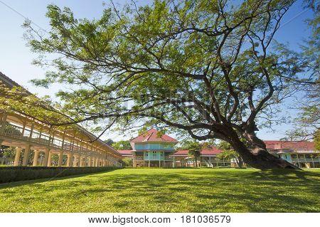 Palace Marukhathaiyawan In Cha-am, Phetchaburi, Thailand.