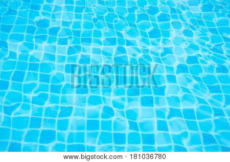 Water Ripples At Swimming Pool Background