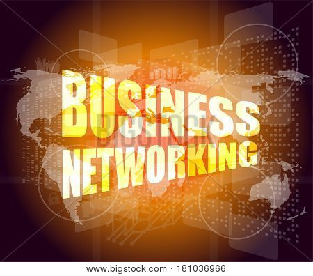Business Networking Icon On Business Digital Screen
