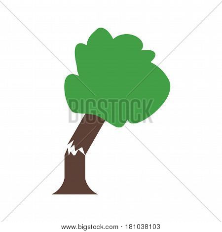 Tree, fallen, damage icon vector image. Can also be used for disasters. Suitable for mobile apps, web apps and print media.