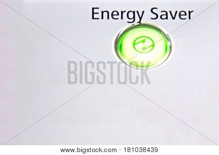 Energy Saver Green button for your concept