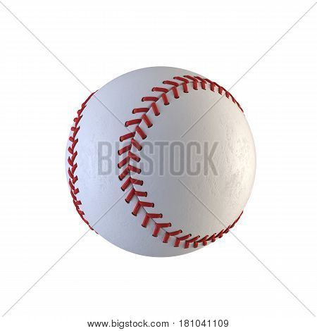 Isolated baseball ball on a white background. 3d rendering illustration