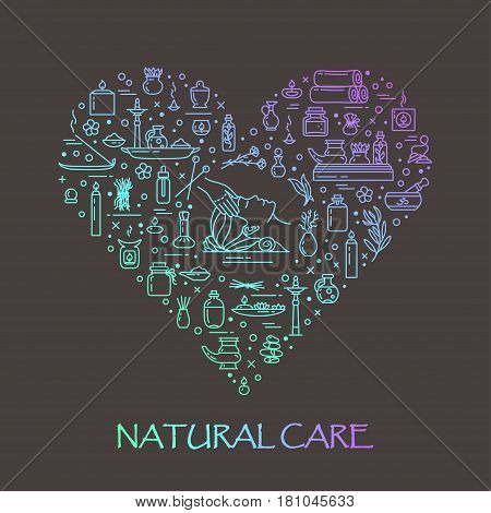 Vector illustration - Natural care. EPS 10 Isolated object