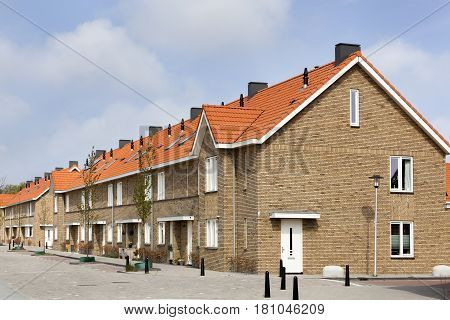 Residential district with contemporary houses in the Netherlands