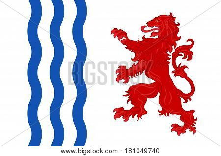 Flag of Nouvelle-Aquitaine is the largest administrative region in France located in the southwest of the country