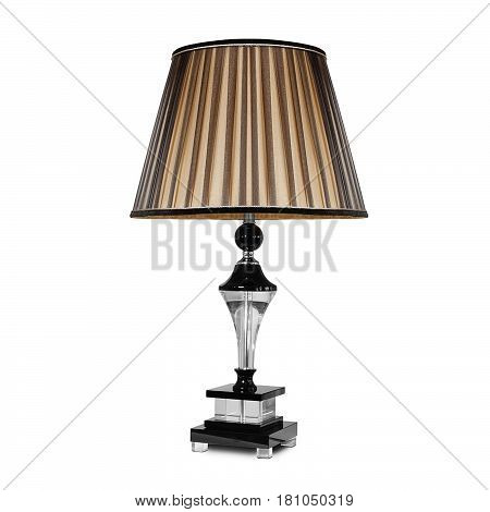 lampshade, table lamp on an isolated white background