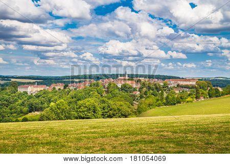 Medieval Town Of Flavigny-sur-ozerain, Burgundy, France