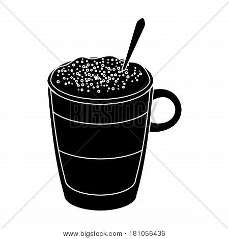 .bicerin coffee.Different types of coffee single icon in black style vector symbol stock illustration .