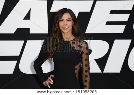 "NEW YORK-APR 8: TV personality Terri Seymour attends the premiere of ""The Fate of the Furious"" at Radio City Music Hall on April 8, 2017 in New York City."