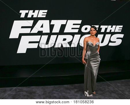 NEW YORK-APR 8: Actress Michelle Rodriguez attends the premiere of