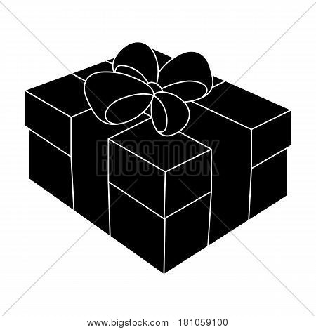 Gift wrapping for Easter. Easter single icon in black style vector symbol stock web illustration.