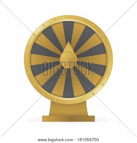Fortune wheel concept to win money and prizes vector illustration.