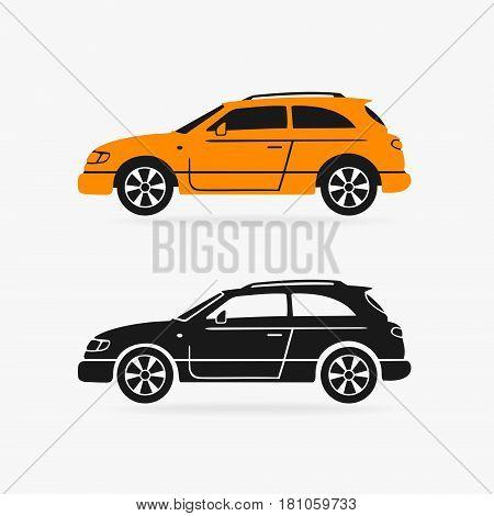 Hatchback Car Vector Symbol eps 8 file format