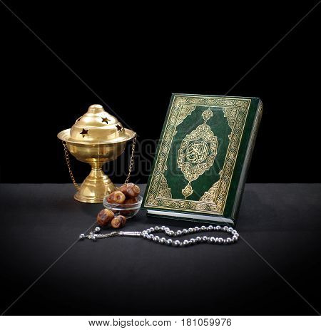 Quran With Rosary, Censor And Dates