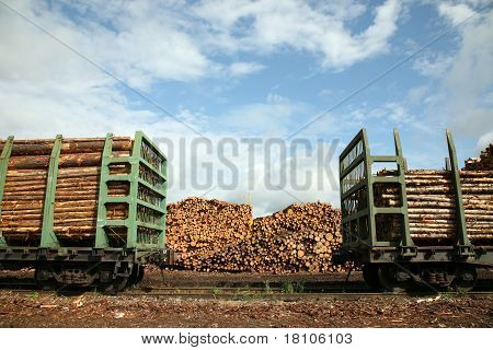 The raw storage and railway