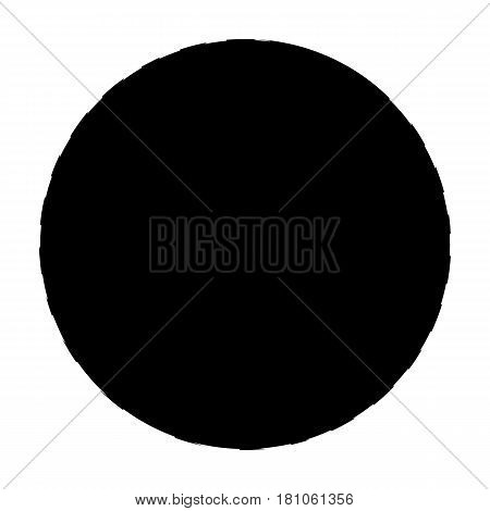 Pink rubber bouncy ball for exercises . Fitball for fitness.Gym And Workout single icon in black style vector symbol stock web illustration.