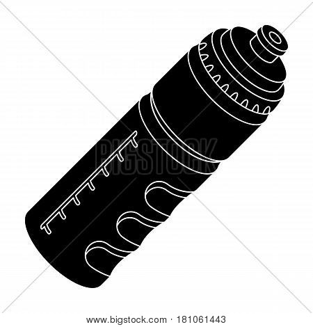 Sports bottle with water. Water balance in training.Gym And Workout single icon in black style vector symbol stock web illustration.