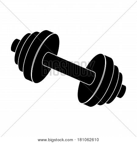 Weights for training. Metal training tools.Gym And Workout single icon in black style vector symbol stock web illustration.