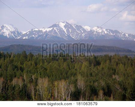 Peak. Eastern Sayan mountains. The Republic of Buryatia. Russia
