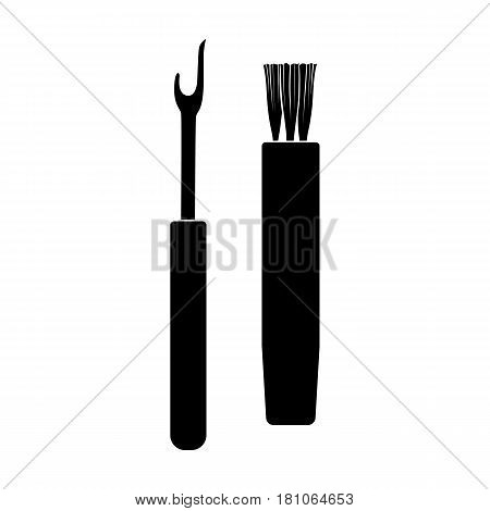 Tools for sewing.Sewing or tailoring tools kit single icon in black style vector symbol stock web illustration.