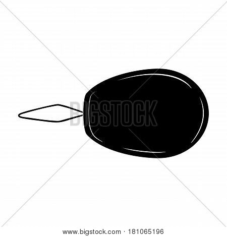 Device for threading the needle.Sewing or tailoring tools kit single icon in black style vector symbol stock web illustration.