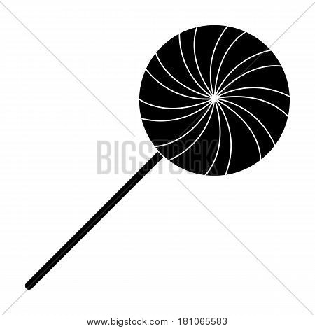 Sweet candy on a stick.Party and parties single icon in black style vector symbol stock web illustration.