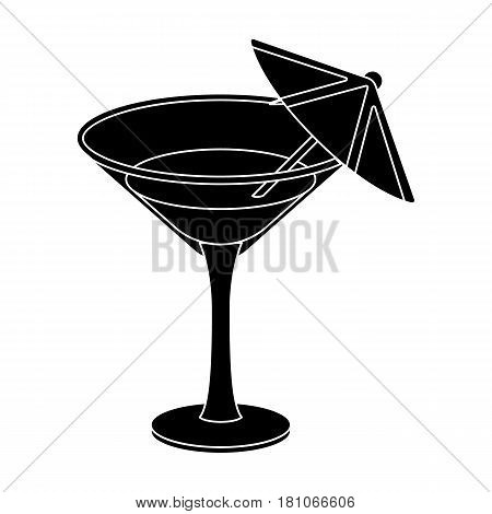 Glass with a cocktail.Party and parties single icon in black style vector symbol stock web illustration.