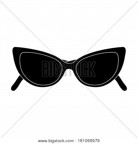 sunglasses for protection from the sun.Summer rest single icon in black style vector symbol stock web illustration.
