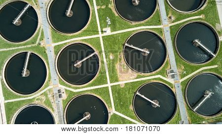 Sewage Farm: Circular Settling Tanks