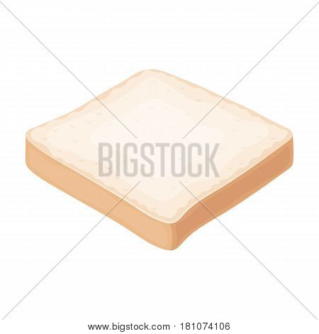 Bread is a piece of a sandwich.Burgers and ingredients single icon in cartoon style vector symbol stock web illustration.