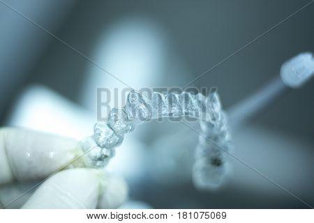 Invisible Dental Aligner Brackets