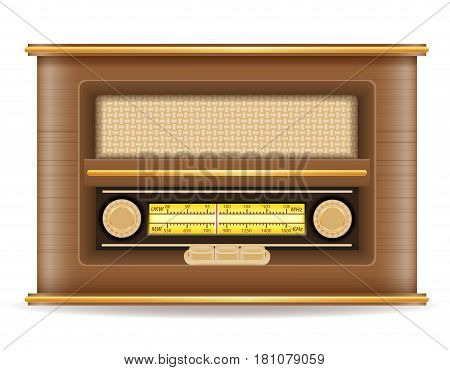 radio old retro vintage icon stock vector illustration isolated on gray background