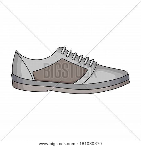 white sneakers unisex lace up. Shoes for sports and daily life.Different shoes single icon in cartoon style vector symbol stock web illustration.
