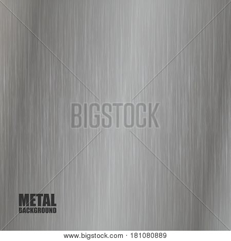 Abstract background with metal steel brushed texture