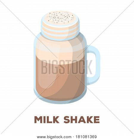 milk shake.Different types of coffee single icon in cartoon style vector symbol stock illustration .